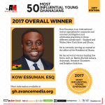 Prince Akpah, MD of Avance Media says he hopes the annual polls will inspire young people to create a positive environment that will encourage other Ghanaian youth to excel in their various endeavours.