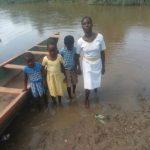 Pupils swim across Densu River to school in Eastern Region