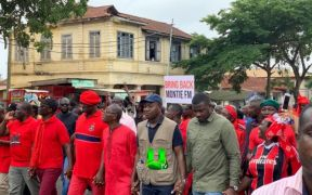 Actor John Dumelo joins demonstration against Akufo Addo