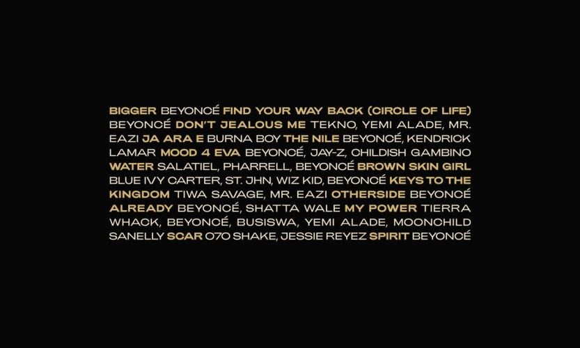 Beyoncé's Lion King Album Features Shatta Wale, Tiwa Savage, Mr Eazi and WizKid