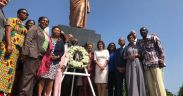 US Politician Nancy Pelosi pay homage at Kwame Nkrumah Memorial Park