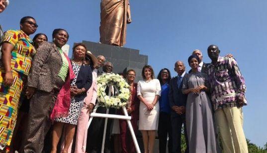 US Politician Nancy Pelosi pay homage at Kwame Nkrumah Memorial Park