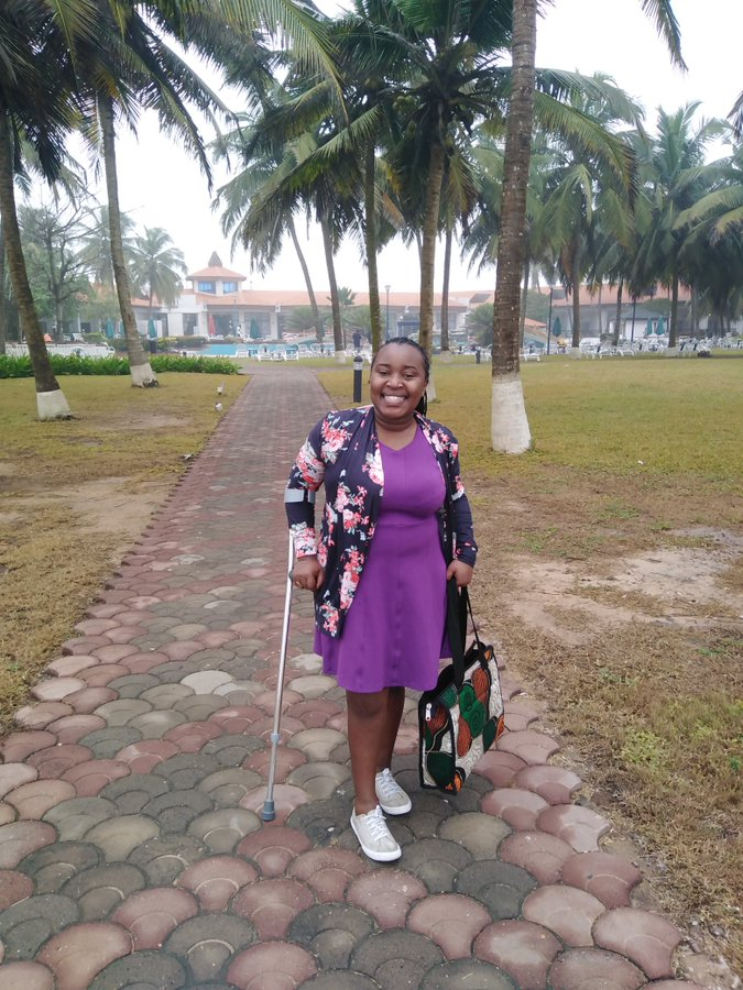 Disabled lady narrates her bitter experience after visiting Ghana