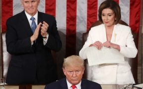 US House Speaker Pelosi rips up Trump's State of the Union Speech