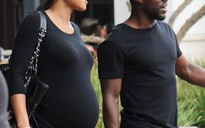 Kevin Hart with wife Eniko