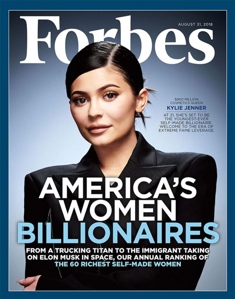 Kylie Jenner to Forbes