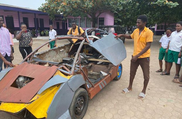 Kelvin Odartei from Ghana builds his own Car