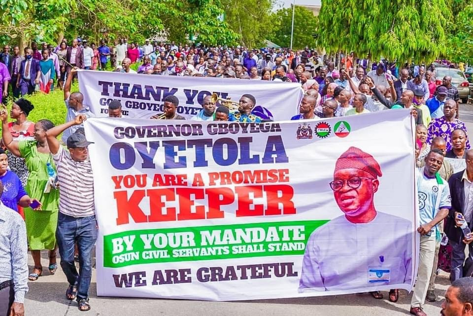 Osun State Workers Celebrates Governor
