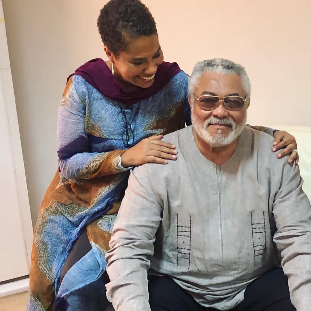 Nathalie Abena Yamb and Jerry Rawlings