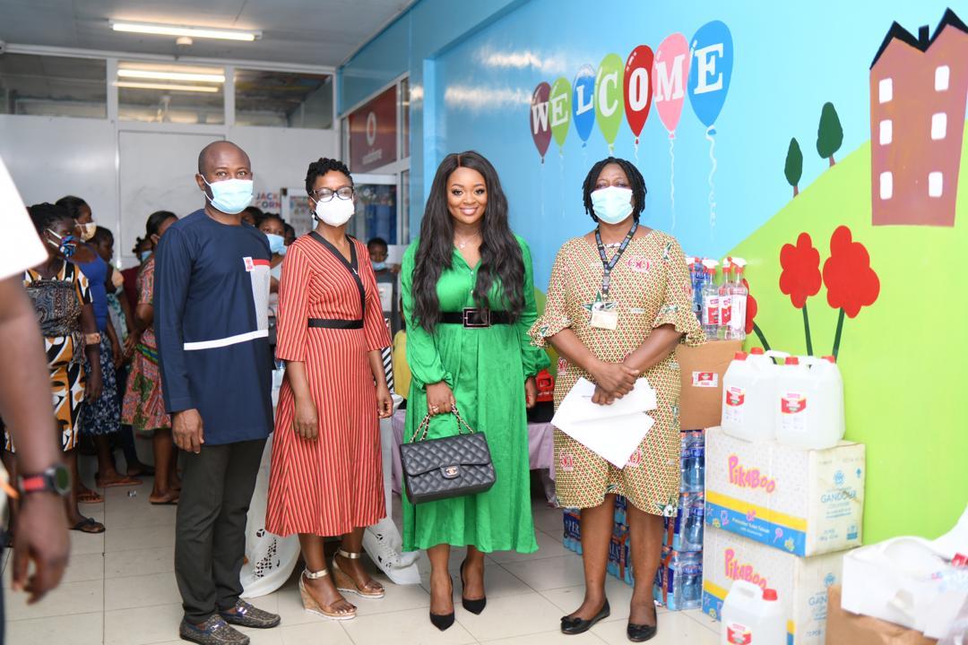 Jackie Appiah's Corner Pampers Kids With Sickle Cell At Korle-Bu