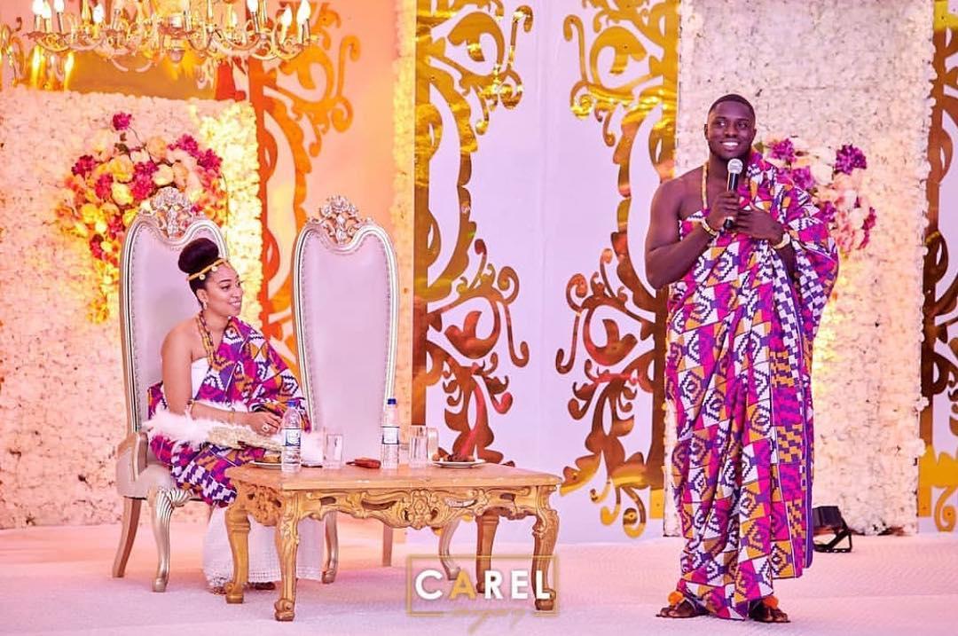 Watch: Ghanaian businessman Philip marries Pastor Chris' first daughter Sharon
