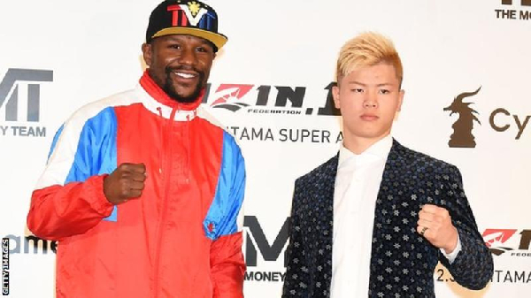 Floyd Mayweather to fight kickboxer Tenshin Nasukawa in December