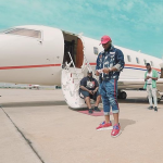 Davido celebrates arrival of his private jet in Lagos